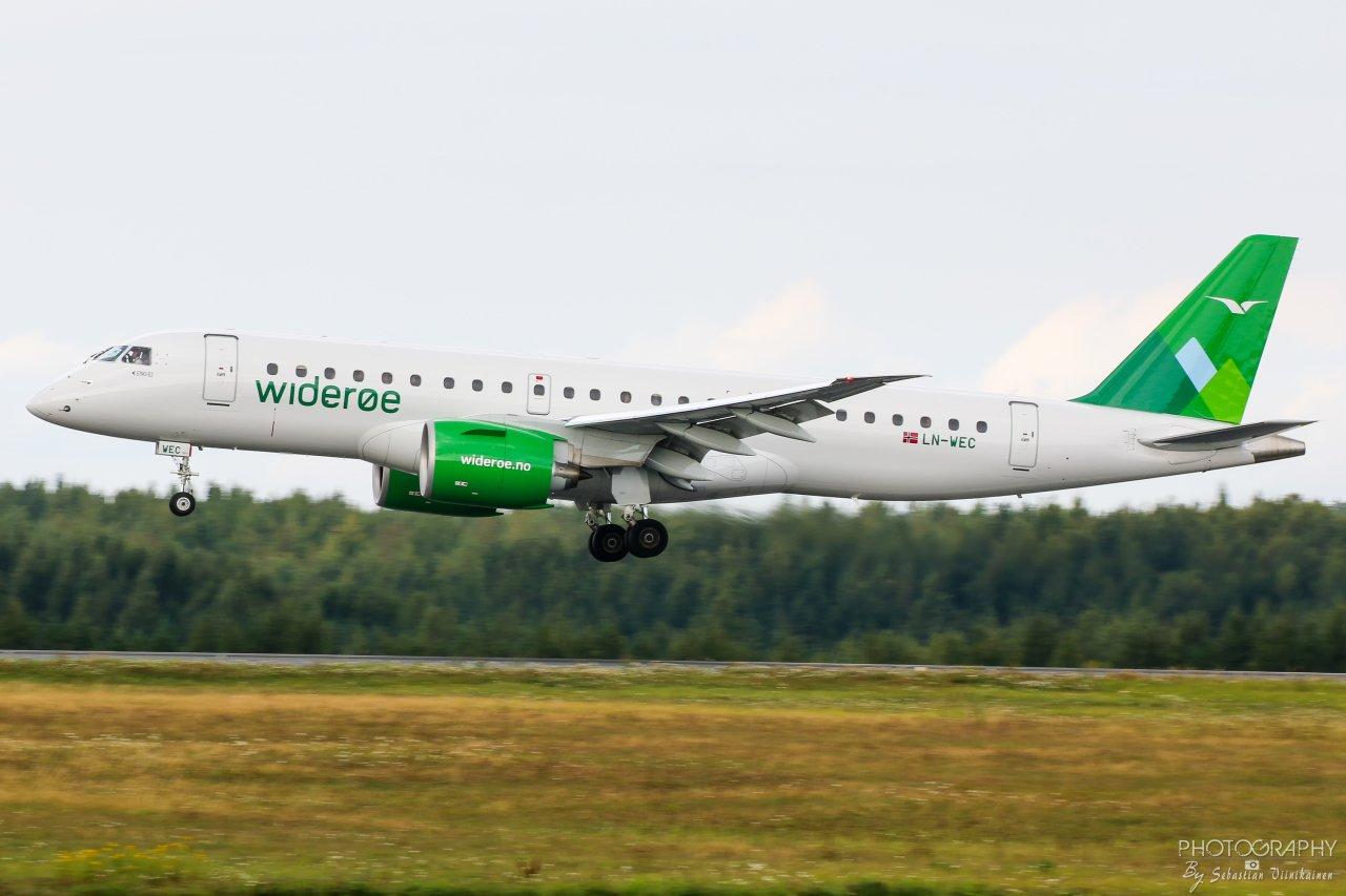LN-WEC Wideroe  Embraer ERJ-190-E2, 18.8.2018