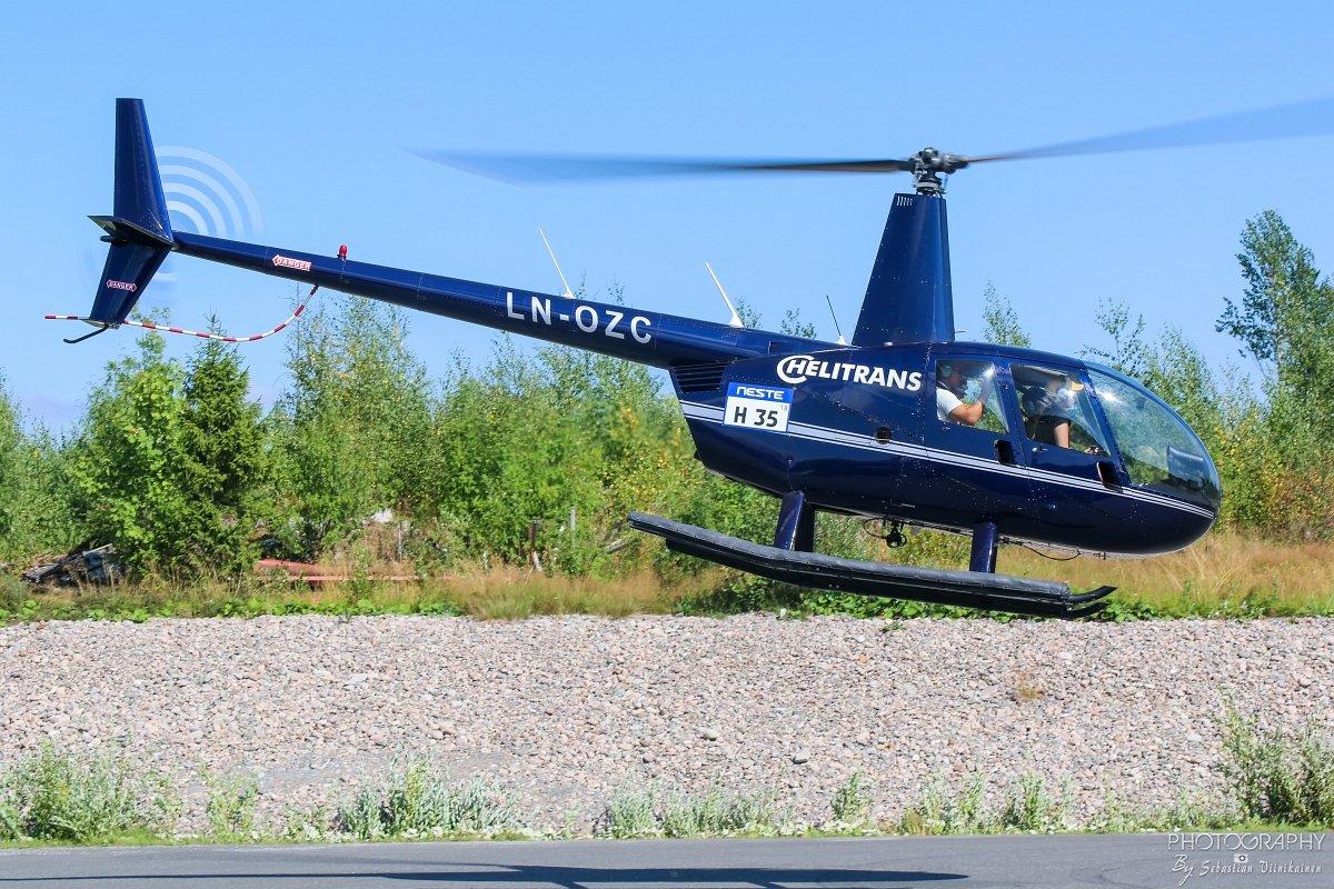 LN-OZC Helitrans Robinson R44 Clipper II
