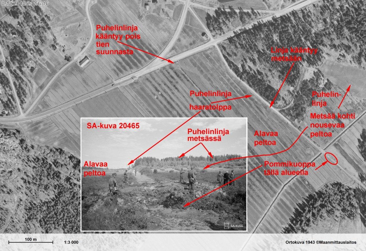 Pommikuoppa tiellä Malmin 25.061941 pommituksen jälkeen - Koostekuva.jpg