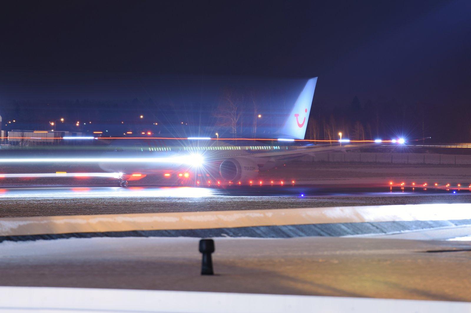 G-TUID lähdössä siirtona Tukholmaan