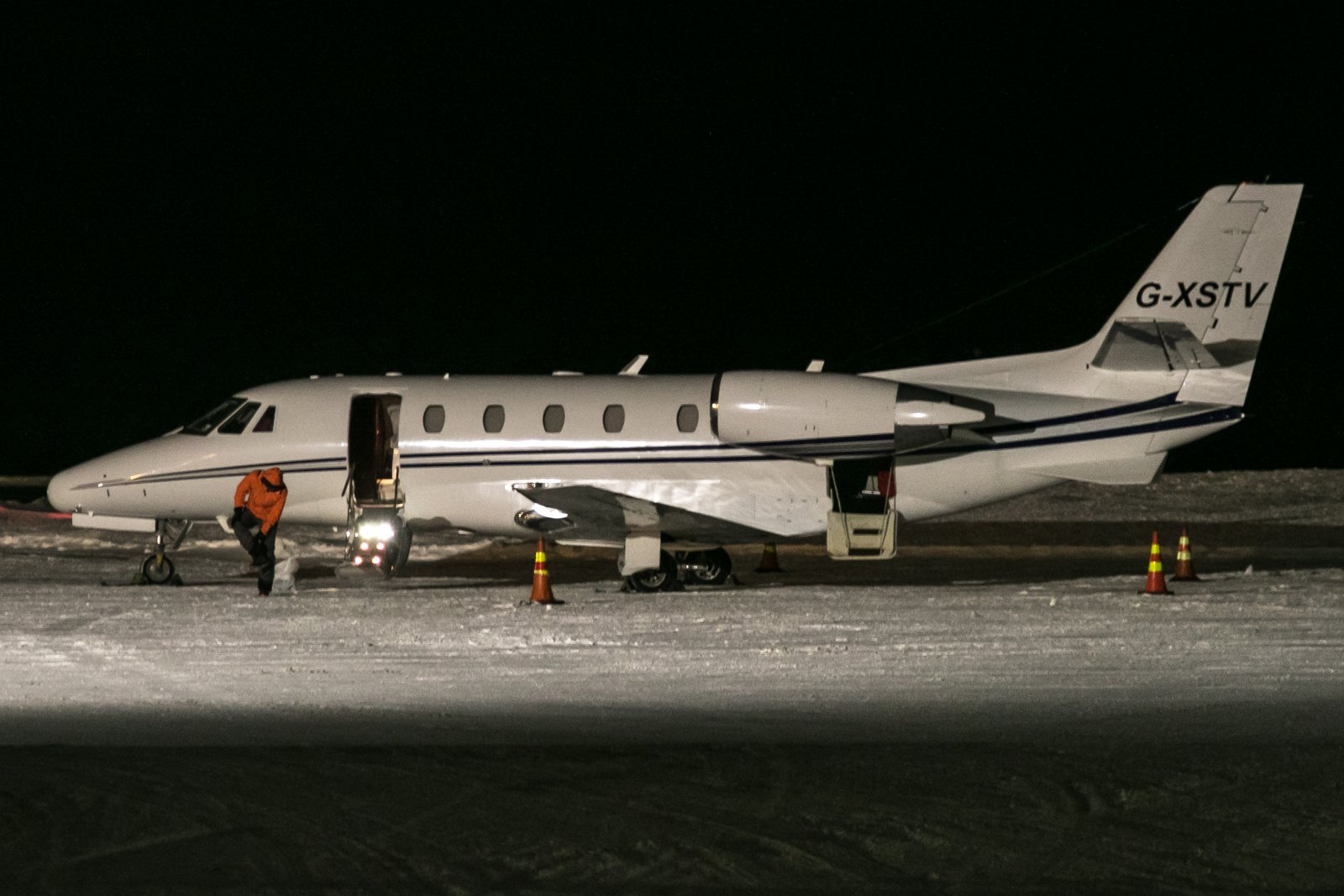 G-XSTV. 17.12.2018. Cessna Citation XLS