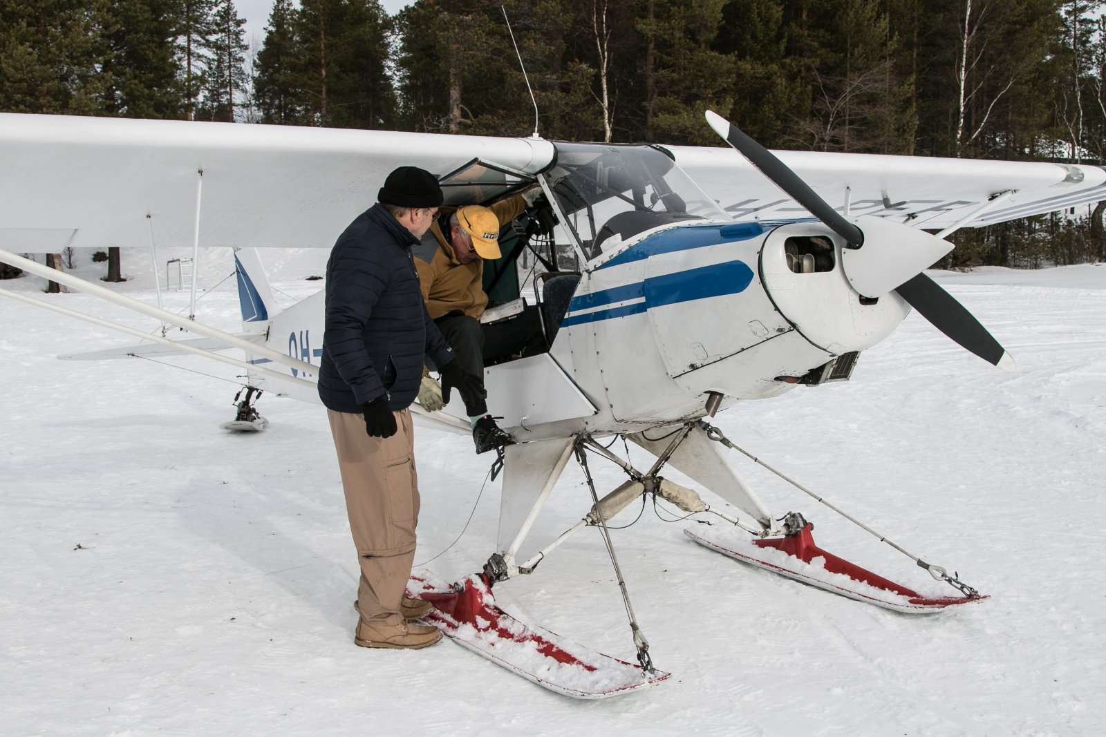 OH-PEP 2.4.2019. Vk 14 Suksilentoleiri Ivalossa.
