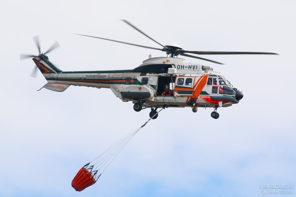 OH-HVI Rajavartiolaitos Aérospatiale AS 332L Super Puma