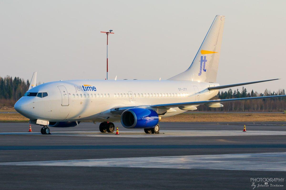 OY-JTY Jettime Boeing B737-700, 24.4.2019