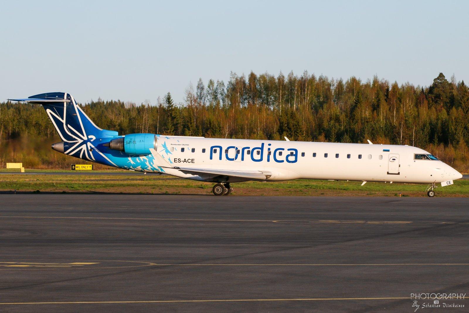 ES-ACE Nordica Bombardier CRJ-701ER, 09.05.2019