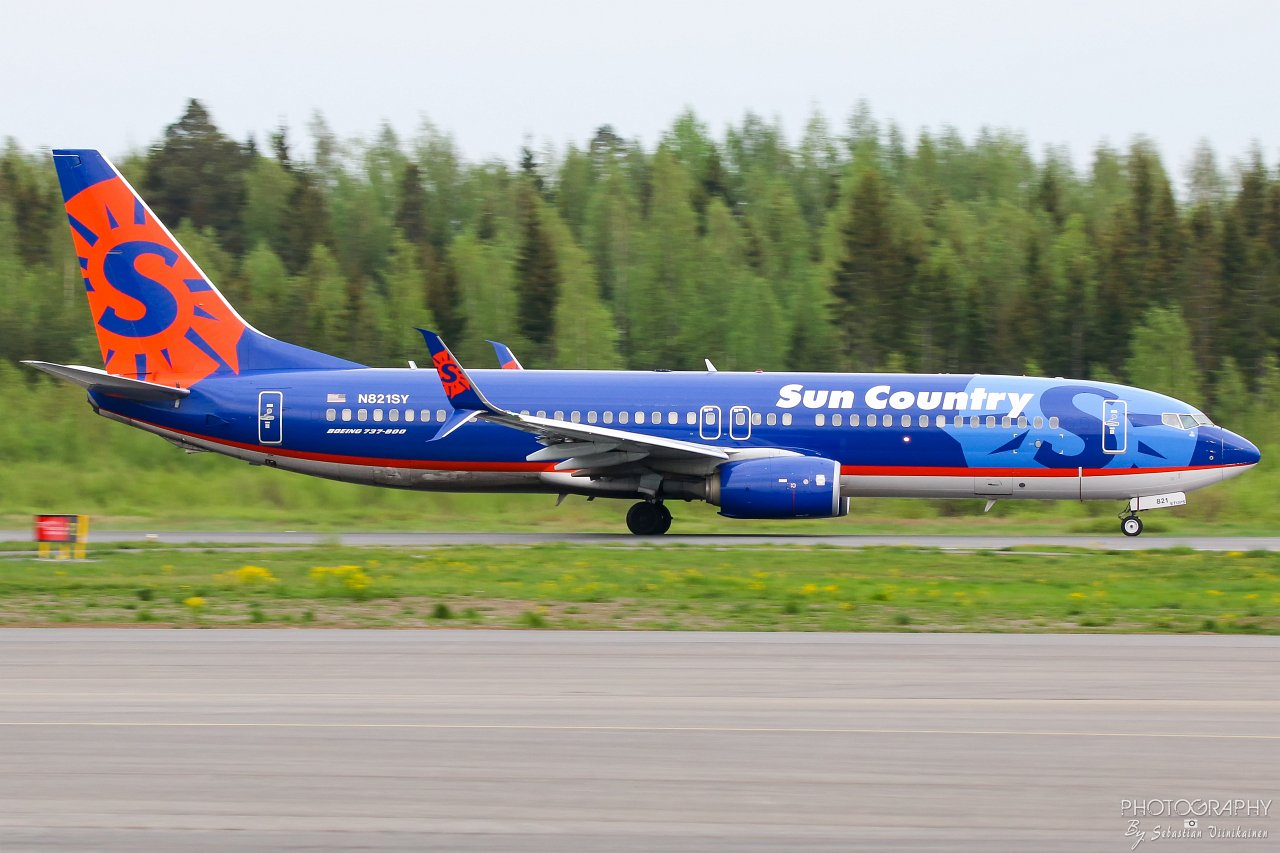 N821SY Sun Country Airlines B737-800, 20.5.2019