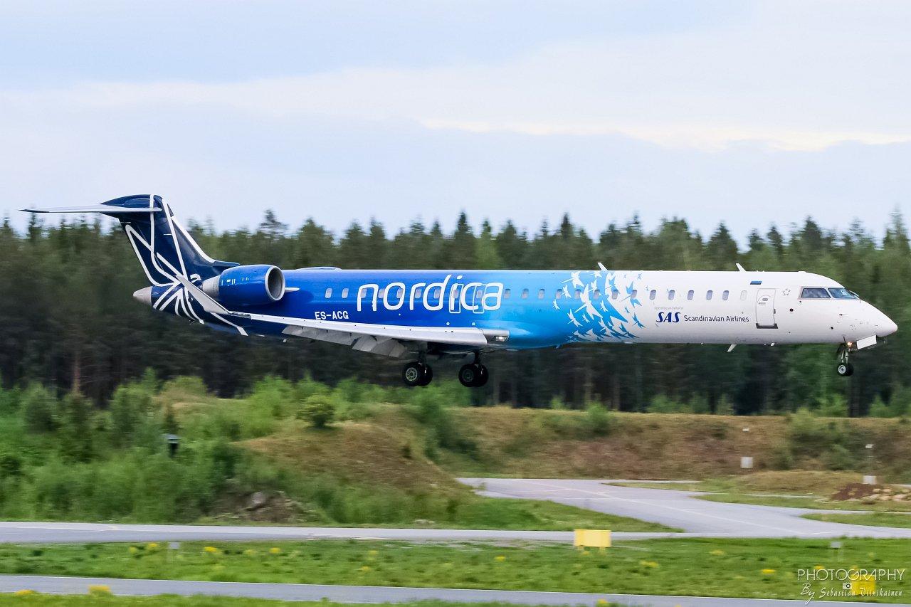 ES-ACG Nordica Bombardier CRJ-900LR, 27.05.2019
