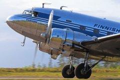 DC-3 lentoja Nummelassa 23.5.2019