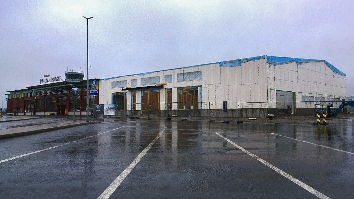 Alkaa Ivalon terminaalin laajennus hahmottumaan.