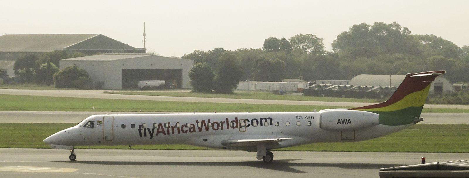 Africa World Airlines Embraer ERJ-145LI 9G-AFQ