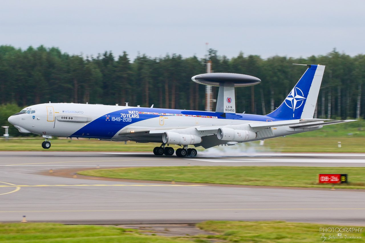 LX-N90450 NATO Boeing E-3A Sentry, 14.06.2019