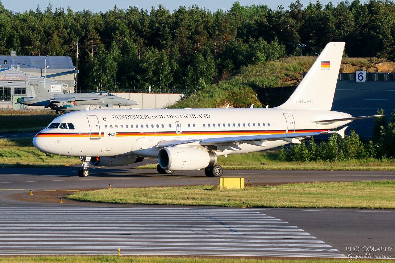 15+02 Saksan Ilmavoimat Airbus A319-133CJ, 16.06.2019