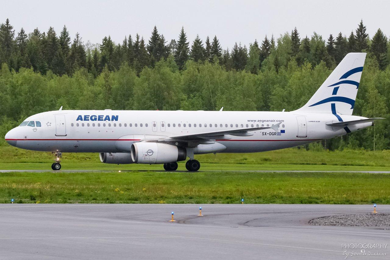 SX-DGR Aegean Airlines A320-200, 01.06.2019