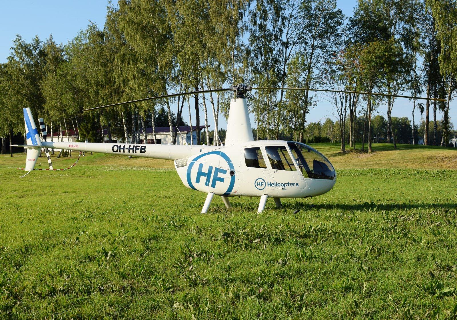 OH-HFB - Robinson R44 - HF Helicopters - 23.7.2019 Vaasan golfkentällä
