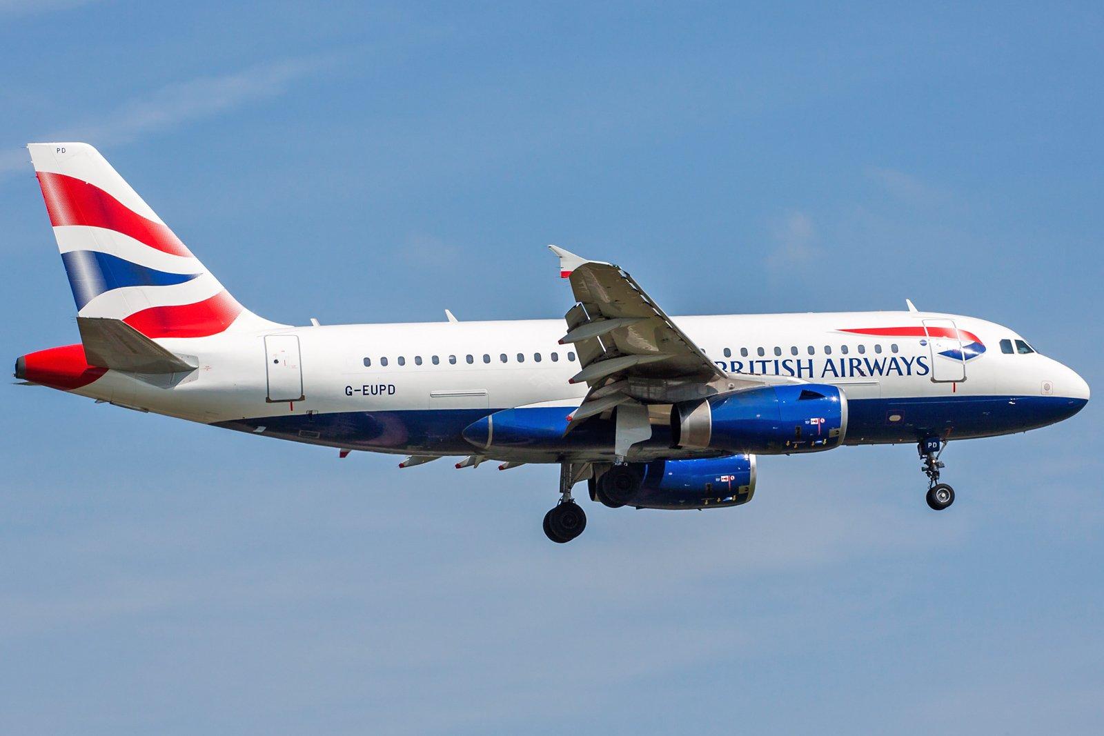 British Airways Airbus A319-131 G-EUPD