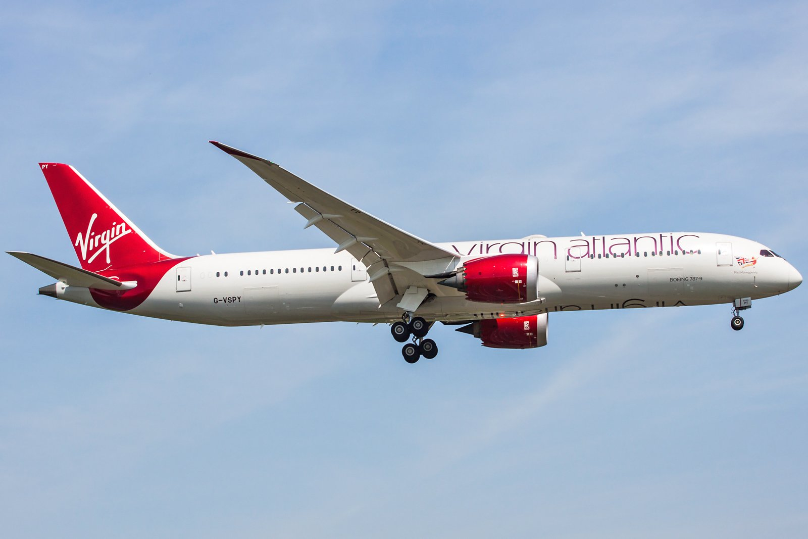 Virgin Atlantic Airways Boeing 787-9 Dreamliner G-VSPY