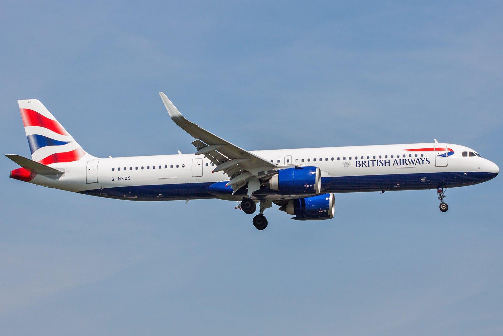 British Airways Airbus A321-251NX G-NEOS