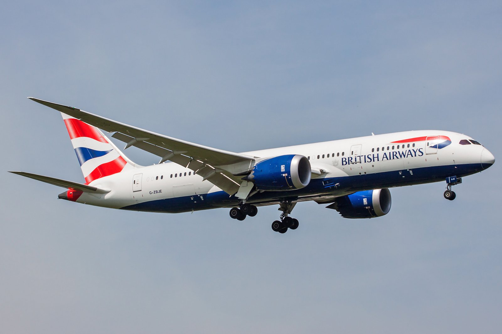 British Airways Boeing 787-8 Dreamliner G-ZBJE
