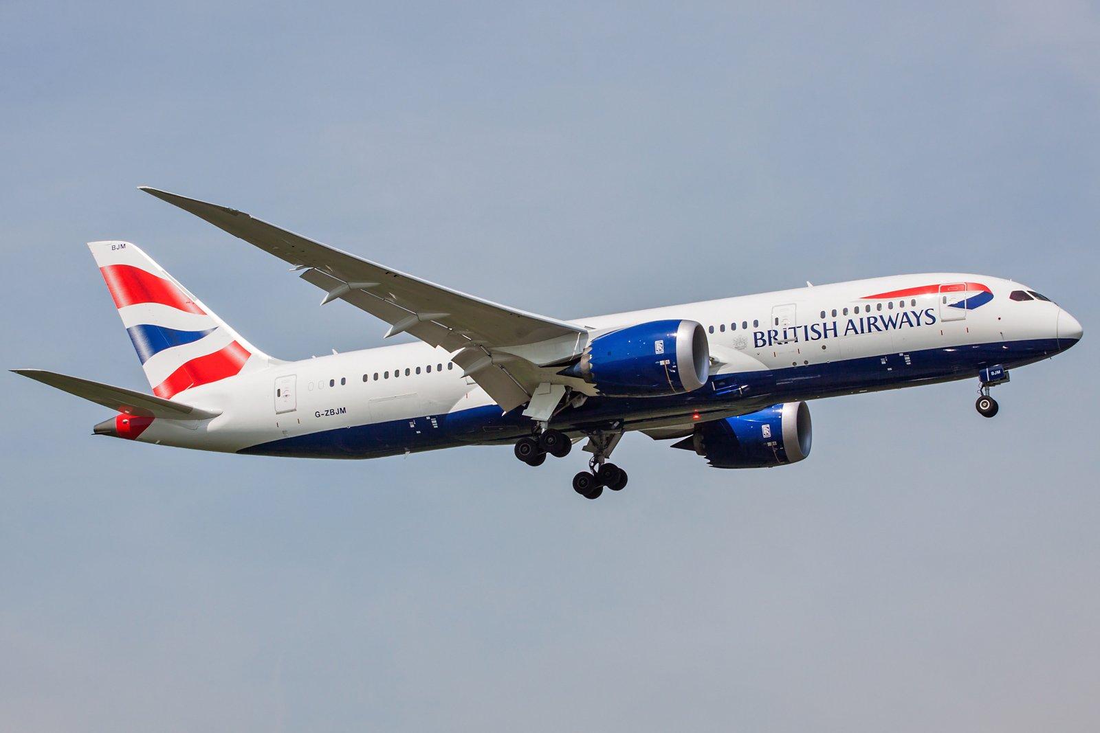 British Airways Boeing 787-8 Dreamliner G-ZBJM