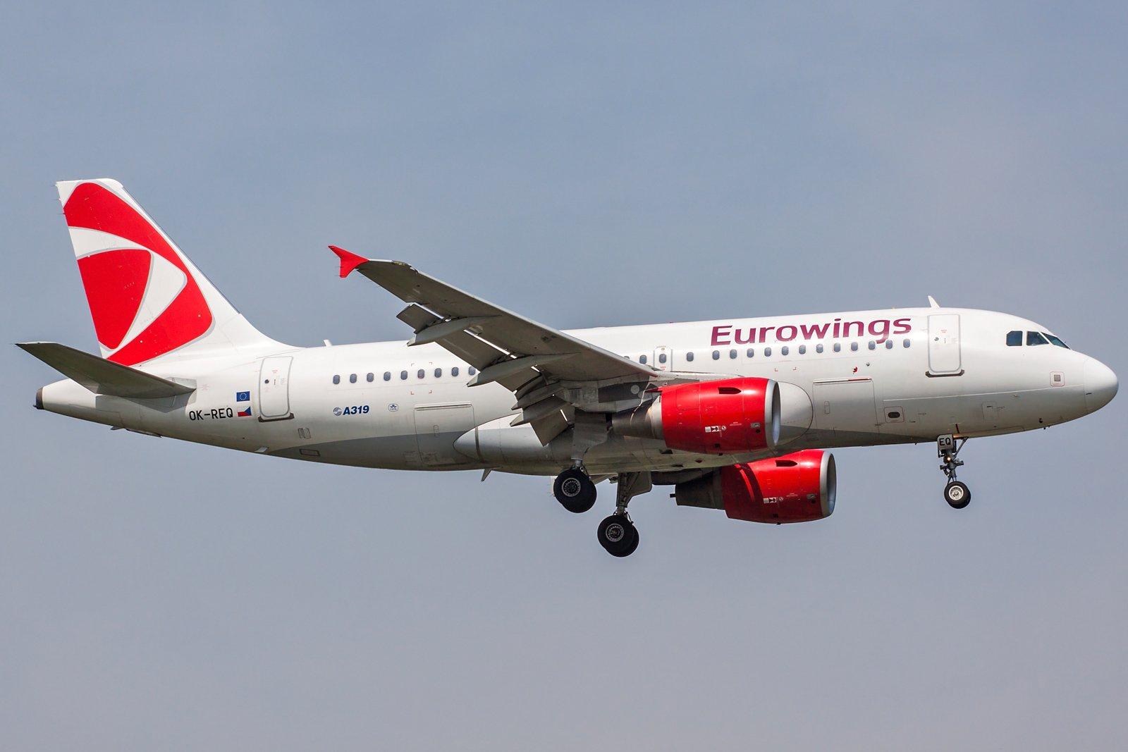 Eurowings Airbus A319-112 OK-REQ