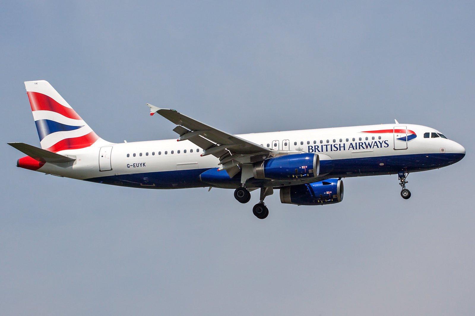 British Airways Airbus A320-232 G-EUYK