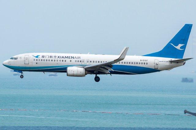 Xiamen Airlines Boeing 737-85C(WL) B-5707