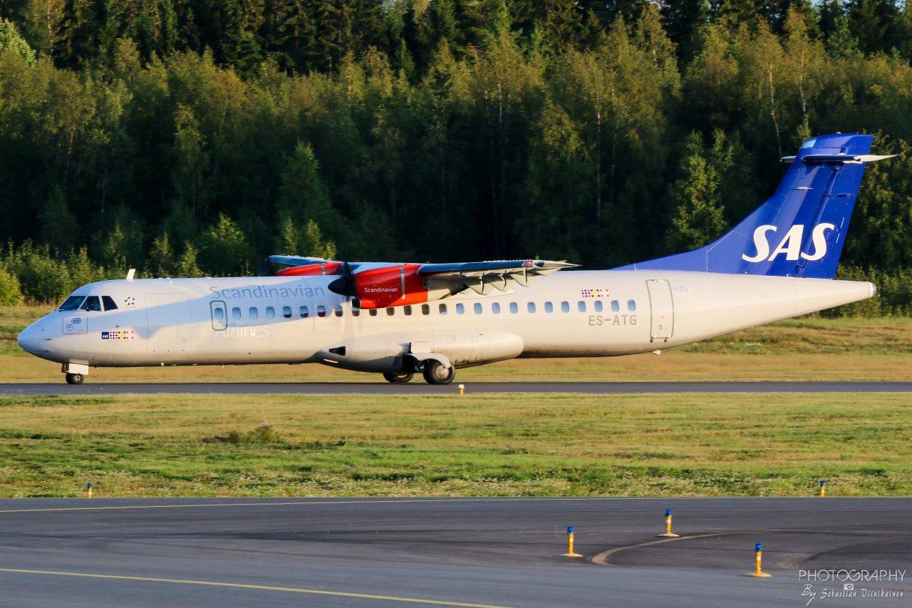 ES-ATG Scandinavian Airlines (Nordica) ATR 72-600, 22.08.2019