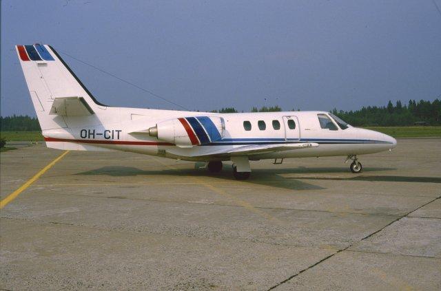 Cessna 500 Citation I  OH-CIT EFKU 1984-08-23