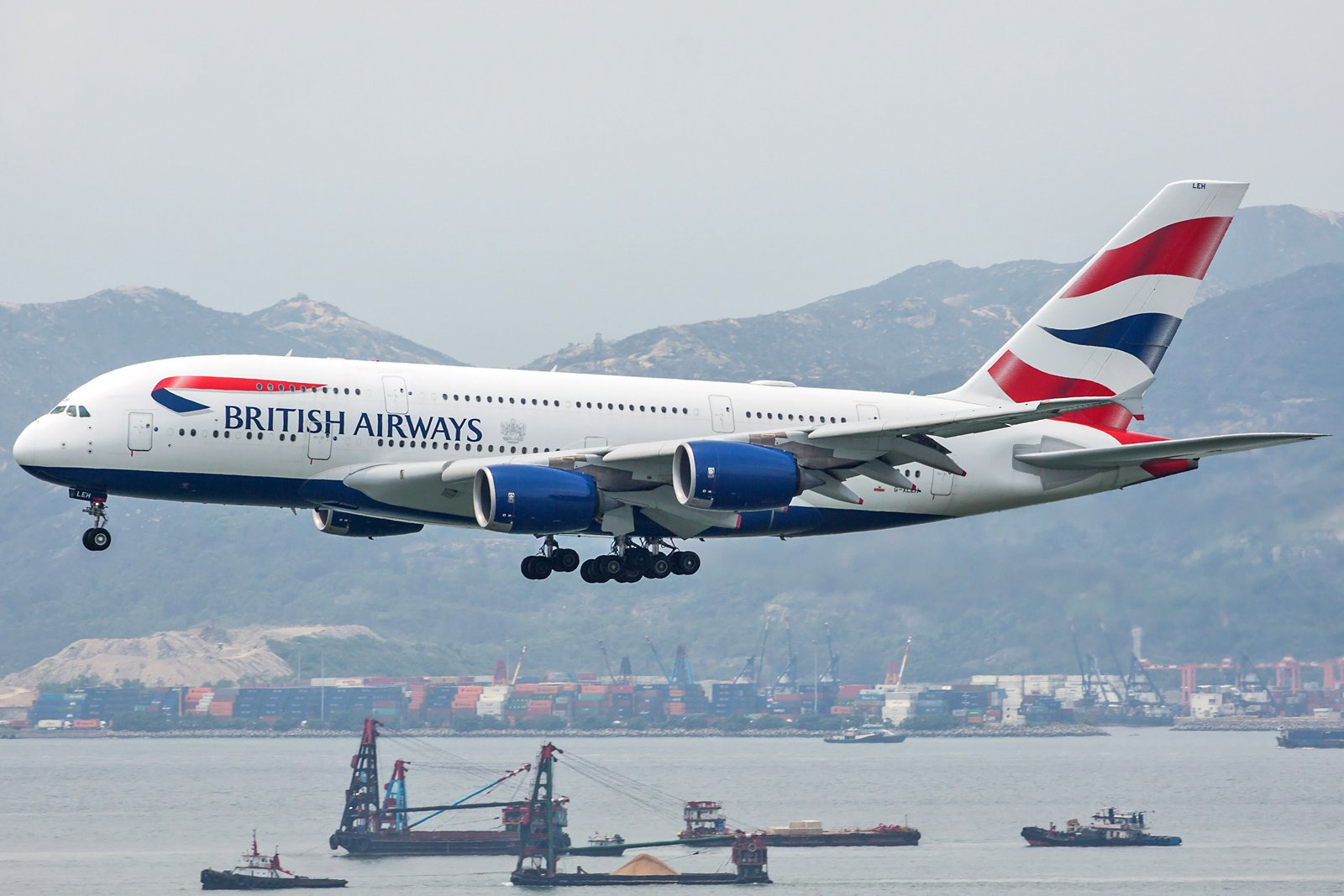 British Airways Airbus A380-841 G-XLEH