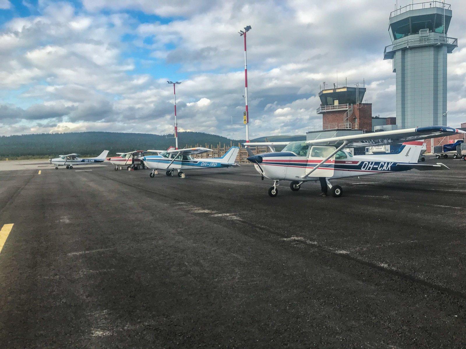 Ivalossa oli SAR-harjoitus viikonlopulla. Neljällä koneella suoritettiin etsintälentoja.