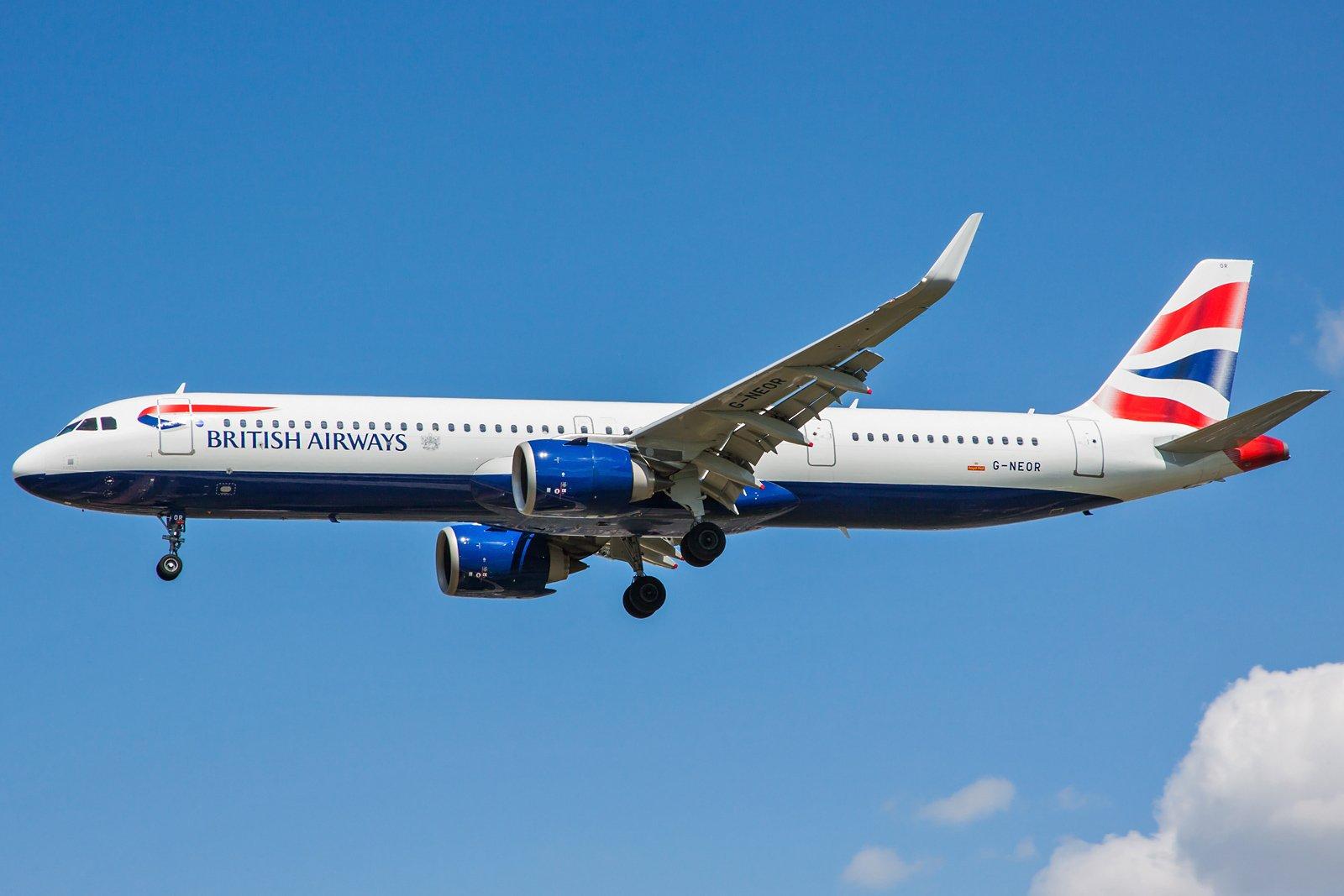 British Airways Airbus A321-251NX G-NEOR