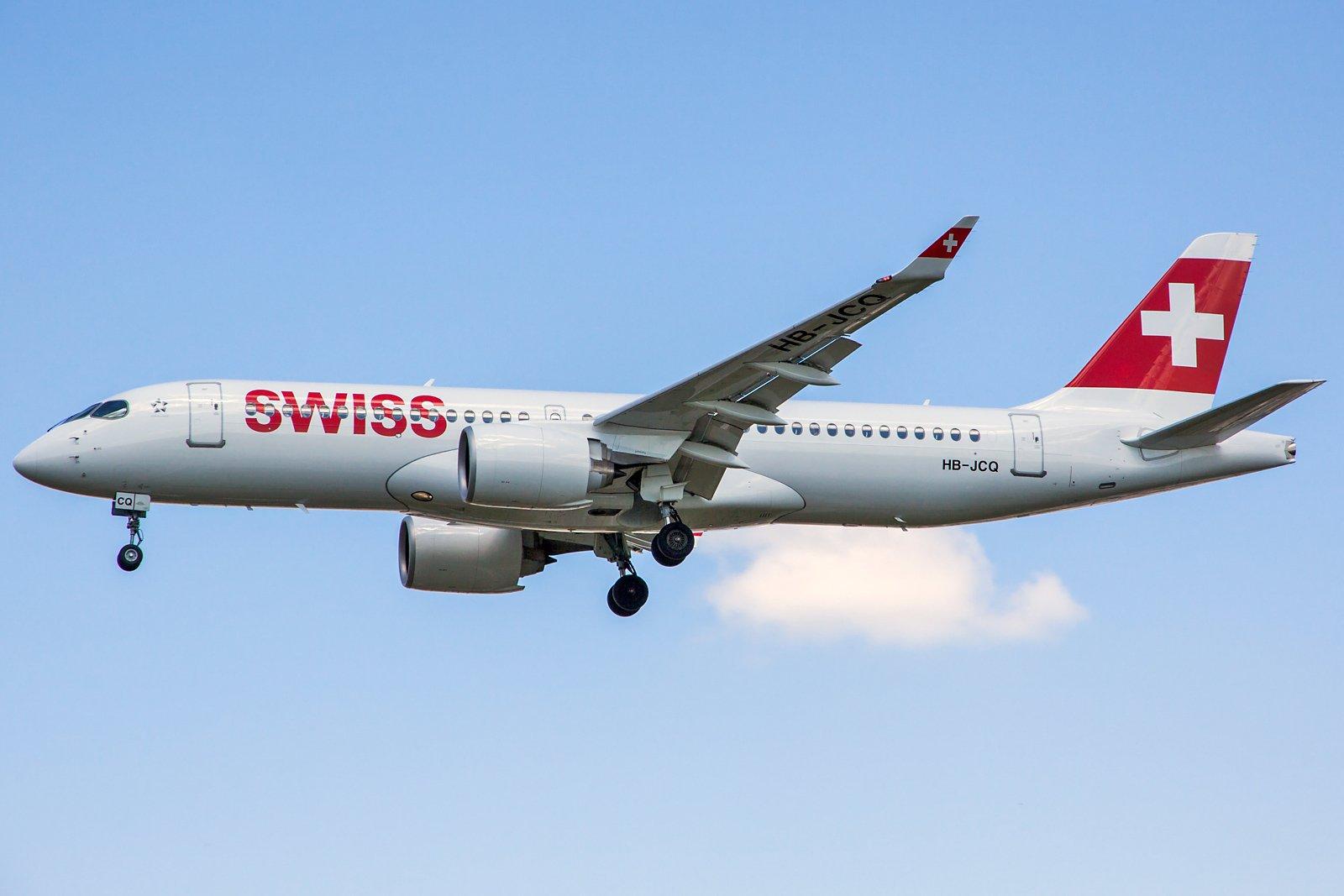 Swiss Airbus A220-300 HB-JCQ
