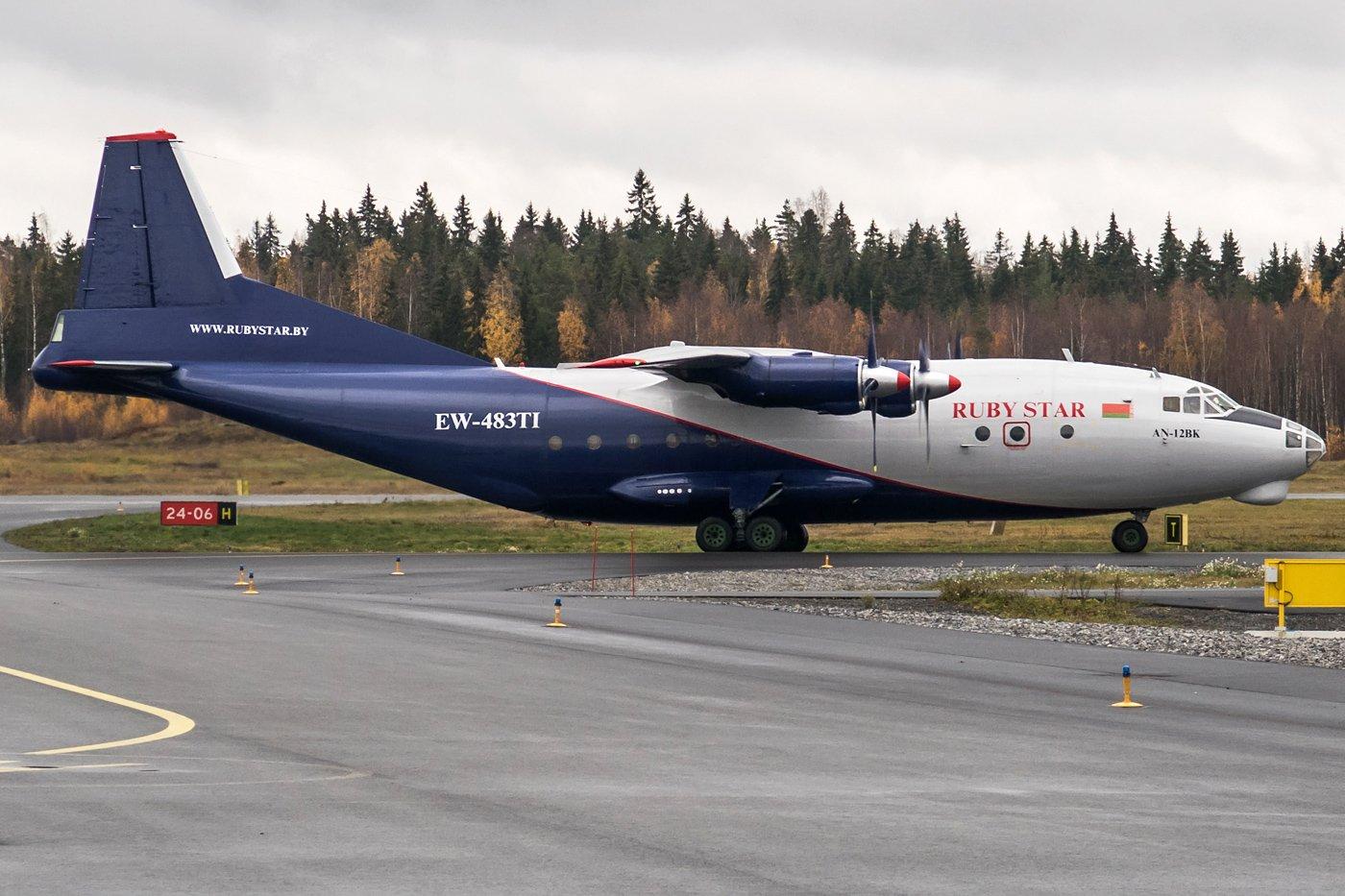 Rubystar Antonov An-12BK EW-483TI