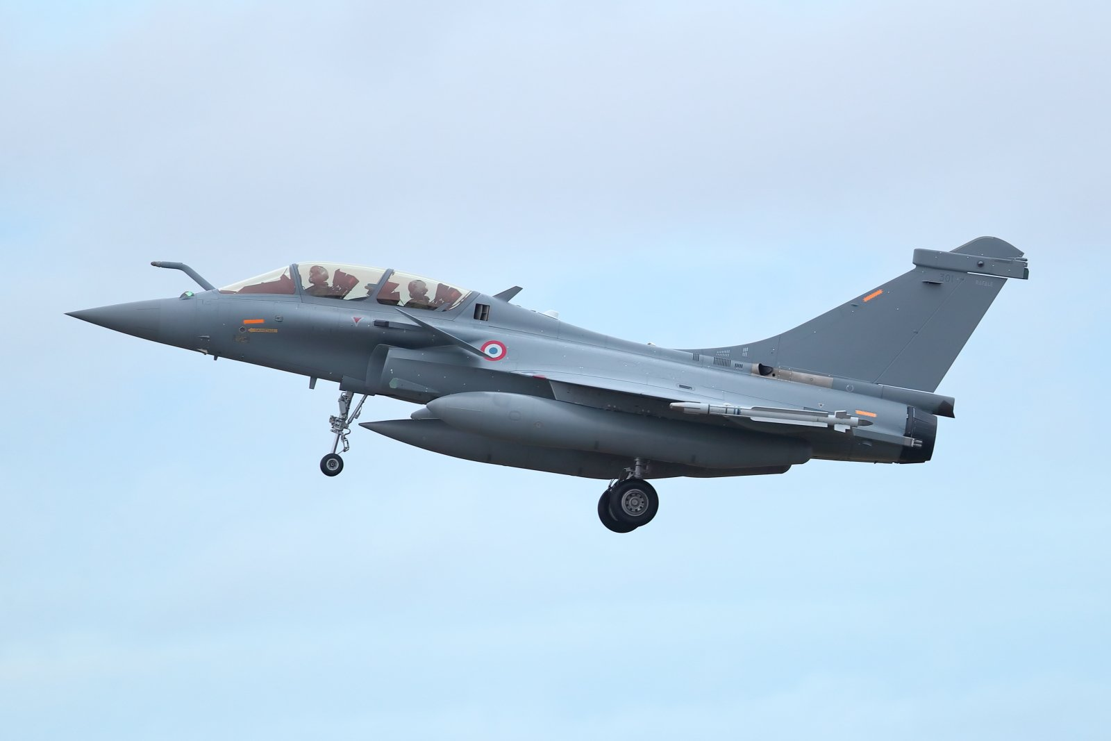 Dassault Rafale B 301 laskussa Pirkkalaan 2020 01 20