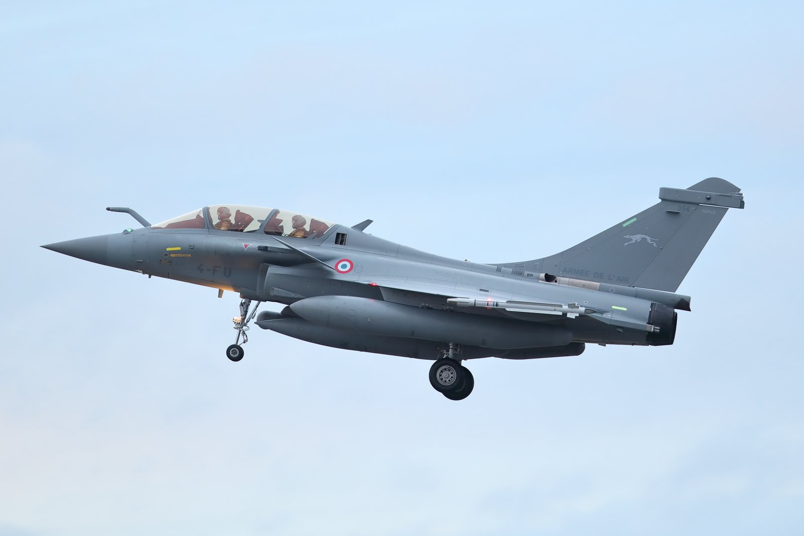 Dassault Rafale B 354 laskussa Pirkkalaan 2020 01 20