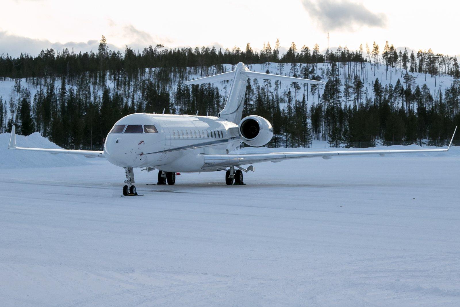 N302AK. Bombardier Global 6000. 22.2.2020. Teterborosta Ivaloon.