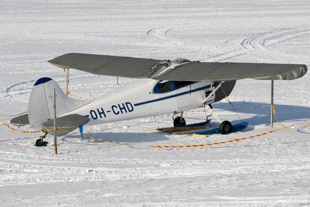 OH-CHD. 18.3.2020. Kone uudessa kotipesässä Inarissa.