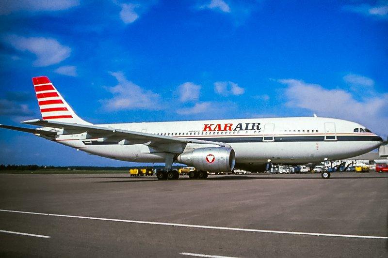 Kar-Air Airbus A300B4-203FFCC OH-LAA vuonna 1989