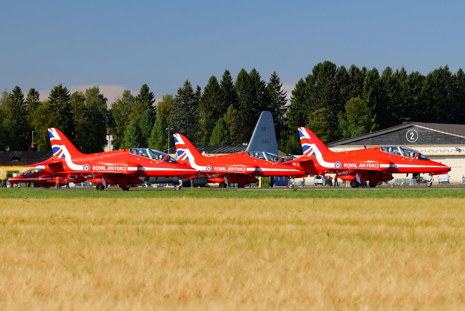 RAF Red Arrows lähtö 31.8.2020