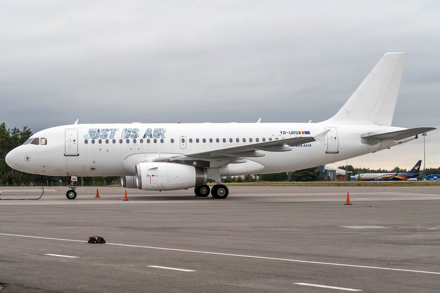 Just Us Air Airbus A319-132 YR-URS 3.9.2020