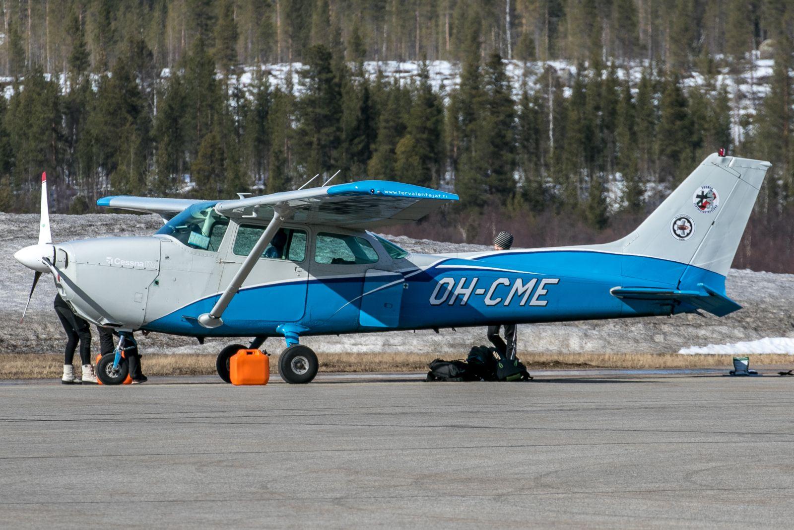 OH-CME. Tervalentäjien Cessna 172 Skyhawk II. 18.4.2021